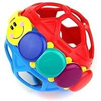 Developmental Oball Bendy Ball幼児ボールfor Kids Baby Toy。(マルチカラー)