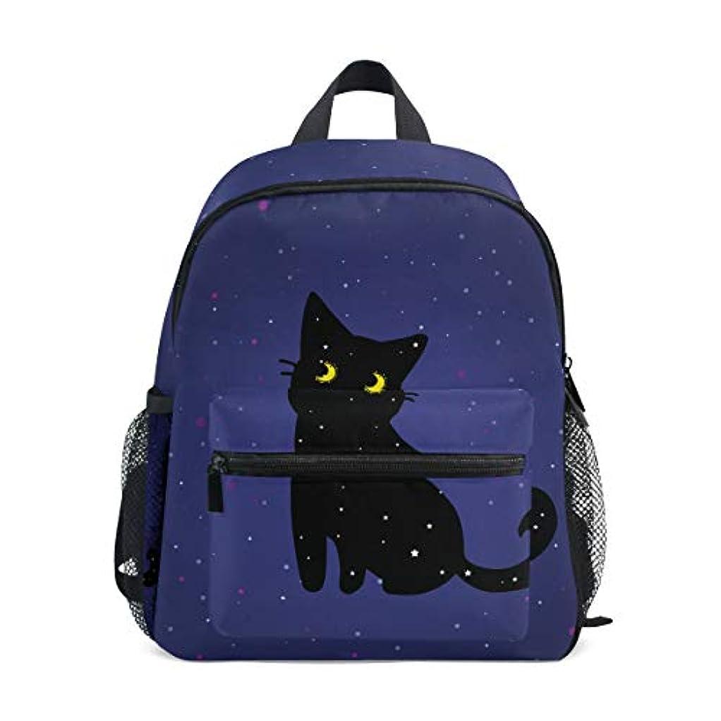 警察エンドテーブル子供っぽいVAWA キッズリュック 子供用 リュックサック おしゃれ かわいい 猫柄 星空柄 星柄 黒い猫柄 漫画 軽量 キッズバッグ 女の子 大容量 防水 小学生 アウトドア 通学 通園