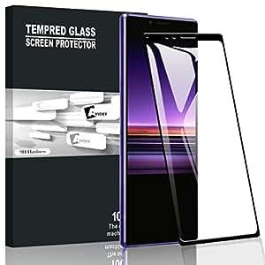 XPERIA 1 SO-03L/SOV40 フィルム A-VIDET【フルカバー】Xperia1 ガラスフィルム 9H硬度の液晶保護 2.5D 0.3mm超薄型 アサヒガラス採用 耐指紋 撥油性 高透過率 ラウンドエッジ加工 Sony Xperia 1 スマートフォン対応 (ブラック)
