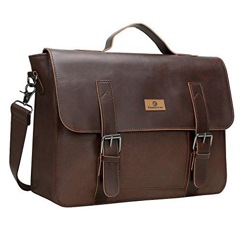 Koolertron ショルダーバッグ ビジネスバッグ レザー 鞄 斜め掛け 肩掛け メンズ バッグ カバン メッセンジャーバック ワンショルダー PUレザー ビジネス 通勤