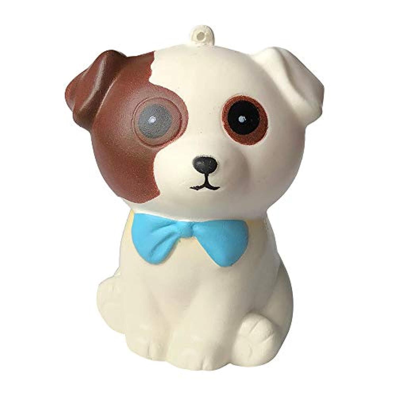 POTO ゆっくり元に戻るおもちゃ ジャンボ キュート 子犬の香り クリームスクイーズ ゆっくり元に戻る おもちゃ ストレス解消 おもちゃ ギフト 10x8x6cm ホワイト