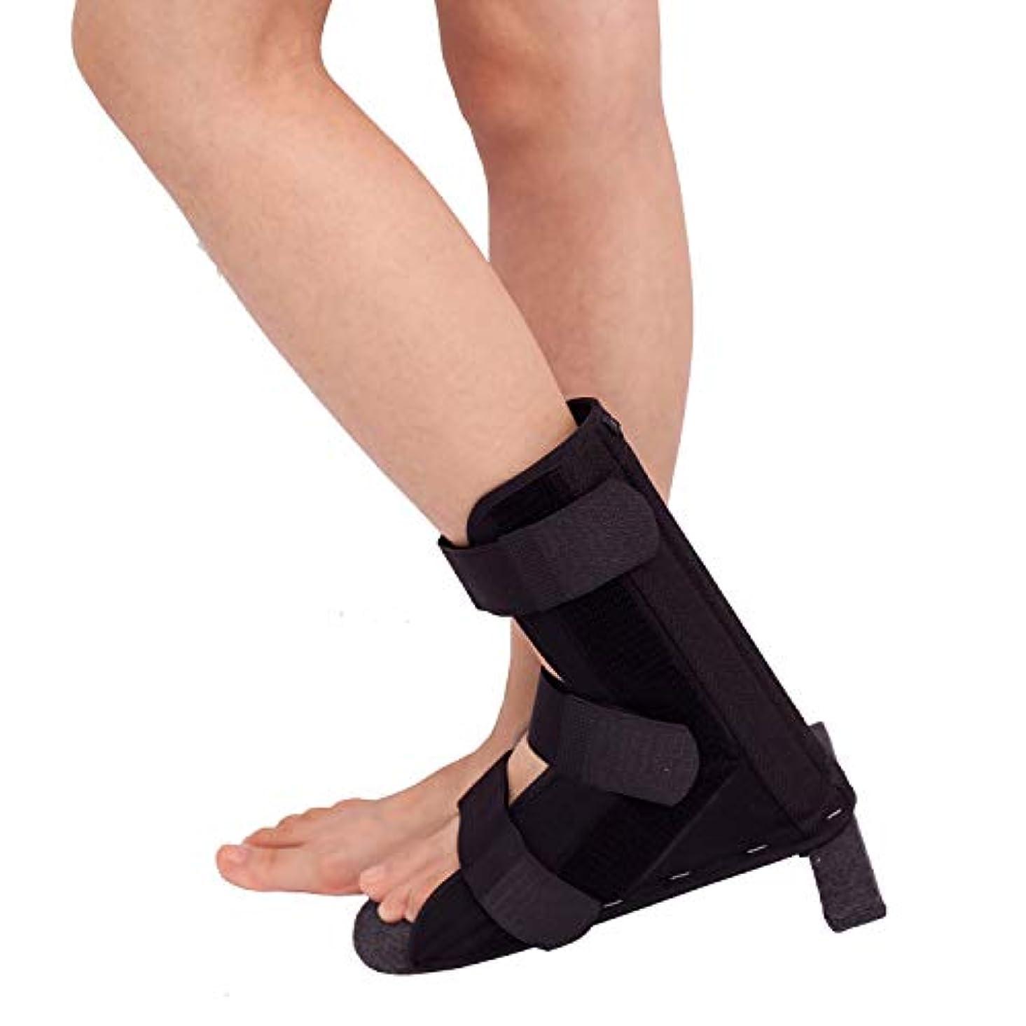 スチール摂氏度申し込む足首サポート ア、T字型靴、整形外科用靴、足首骨折、捻挫固定ブラケット (Size : L)