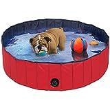 Yaheetech Portable Folding Pet Pool Cat Dog Puppy Indoor Outdoor Swimming Pool L M Size Dia.160cm 120cm (M(Dia.120X30cm))
