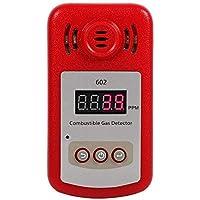 Yosoo 300-10000PPM 可燃性ガス検出器 濃度検出器 可燃性ガス漏れ検知 可燃性天然ガスメタン サウンドアラーム ライトフラッシュ付き 大音量警報 高感度 敏感 使いやすく
