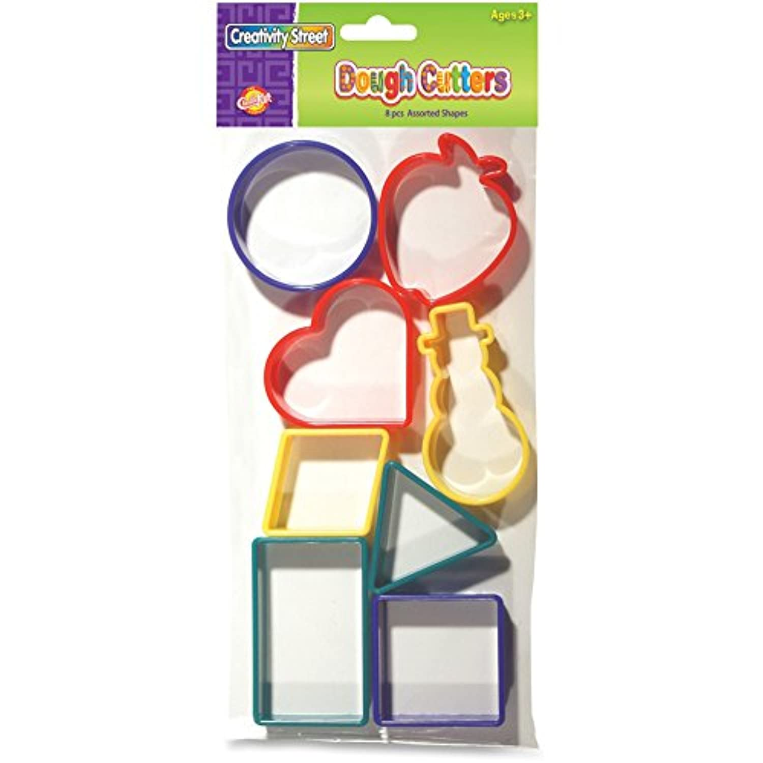 Chenille Kraft CKC9765 Shapes Dough Cutters Clay44; 8 Count - Assorted Color