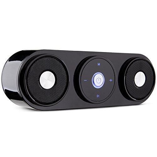 ZENBRE Z3 Bluetooth 4.0ポータブルスピーカー/10Wステレオベース【20時間連続再生/マイク搭載】(ブラック)