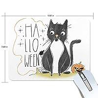 マウスパッド ハロウィーン 猫 光学式マウス対応 防水 滑り止め生地 ゴム製裏面 軽量 耐久性 携帯便利 ノートパソコン用 オフィス用 快適 プレゼント