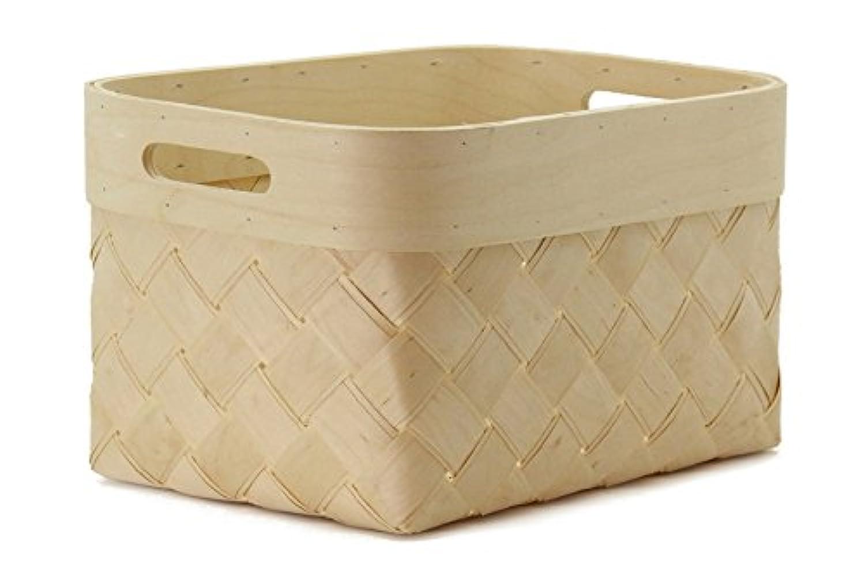 北欧白樺の収納バスケット 長方形 Lサイズ