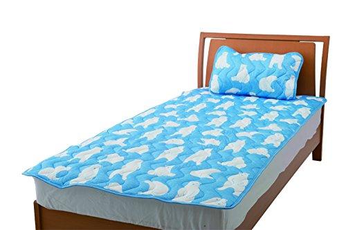 マーベラスクール ネオプラス 枕パッドA1(シロクマ柄 ブルー) 171-8401A1BL