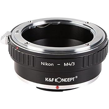 K&F Concept レンズマウントアダプター KF-NFM43 (ニコンFマウントレンズ → マイクロフォーサーズマウント変換)