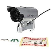 ソーラー電源屋外ダミーフェイクCCTVセキュリティ監視フラッシュLED CCDカメラ
