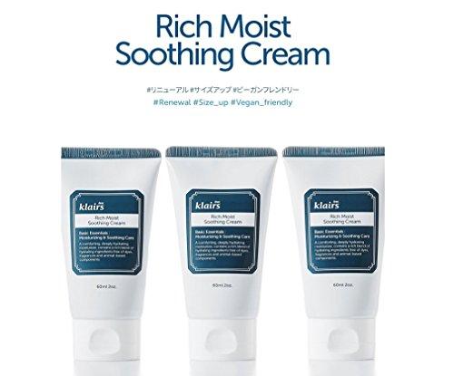 『KLAIRS(クレアス) リッチモイストスージングクリーム, Rich Moist Soothing Cream 60ml [並行輸入品]』の1枚目の画像