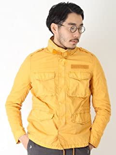 Garment Dyed Cotton Nylon Type M-65 Jacket 11-18-0858-139: Mustard