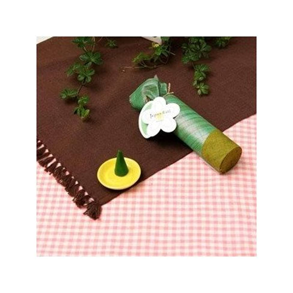 測定可能マラドロイトむしろお香/インセンス 〔マンゴーの香り コーンタイプ10個入り〕 バリ島製 「Jupen Bari/ジュプンバリ」[通販用梱包品]