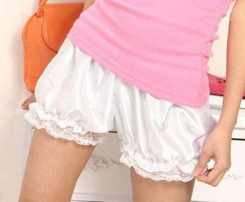 ドロワーズ サテンのかぼちゃパンツ コスチューム用小物 ホワイト レディース フリーサイズ