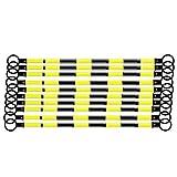 シバタ スライドバー 伸縮バー カラーコーン用 黒 黄反射 10本