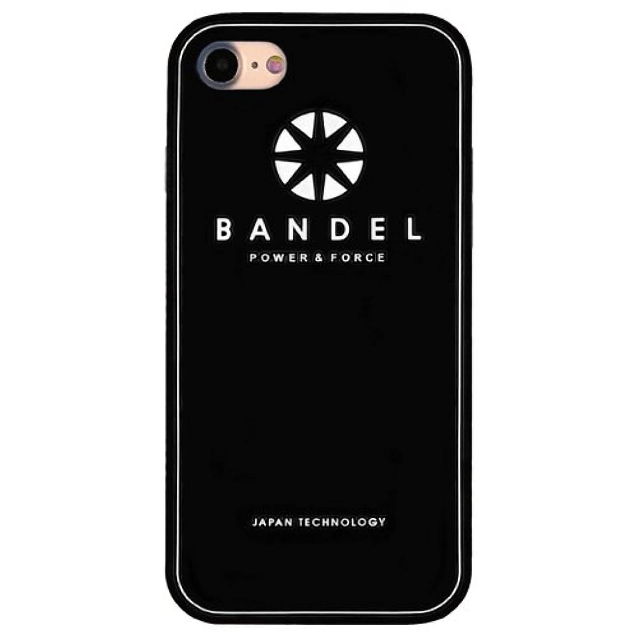 ポンプ熱心なモーテルバンデル(BANDEL) ロゴ iPhone 8専用 シリコンケース [ブラック×ホワイト]