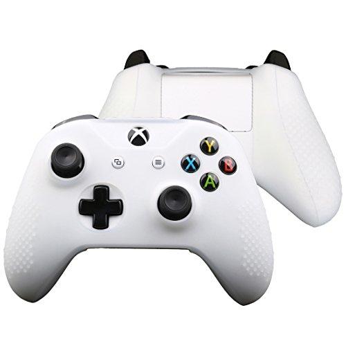 FTzone(エフティーゾーン)フルカバー Xbox One S コントローラー専用シリコンケーススキン保護(コントローラカバー x 1 + ティック カバー x 2)(白)
