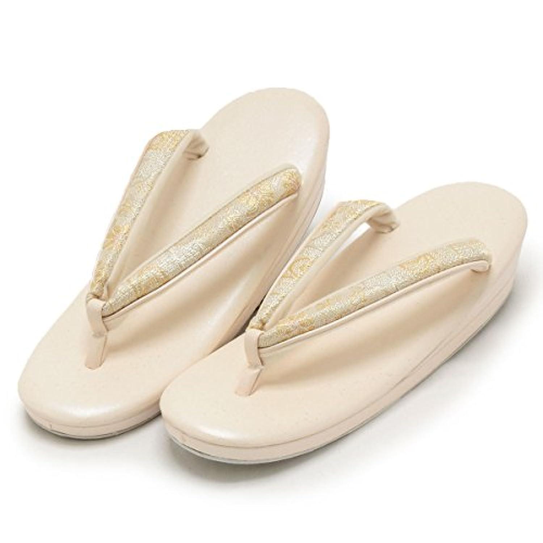 (キステ)Kisste 礼装用草履 <紗織謹製> LLサイズ 銀たたきピンクホワイト 菊文様 7-1-04257