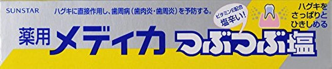 開梱開発雪のサンスター 薬用メディカつぶつぶ塩 170g (医薬部外品)