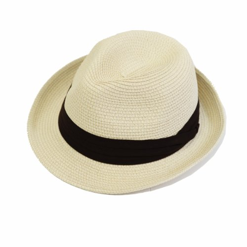 (エッジシティー) EdgeCity 折りたたみ可能 大きいサイズ メンズ 麦わら帽子 ストローハット L 61cm 000319...