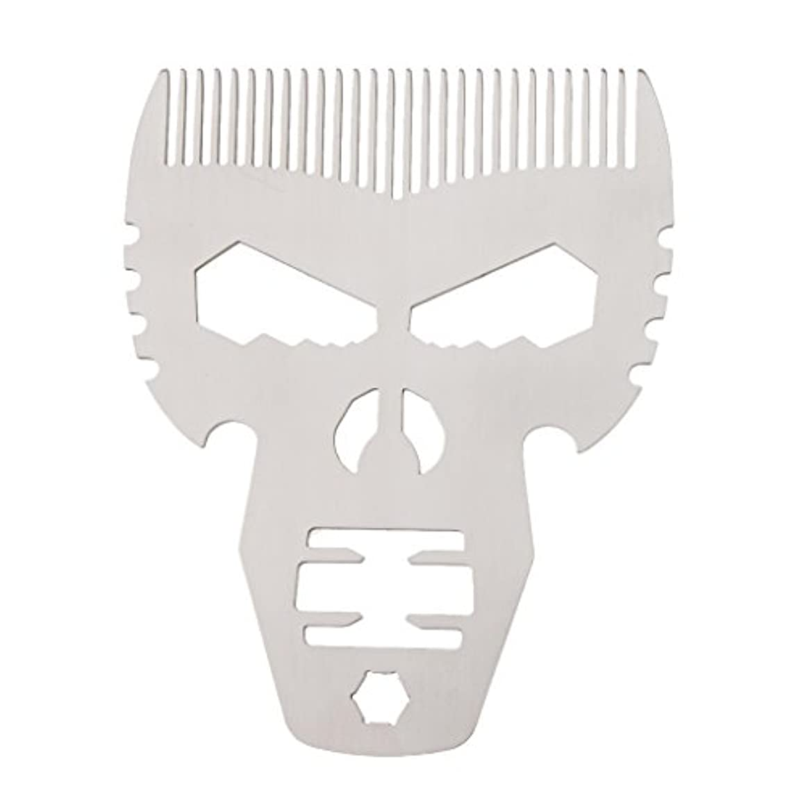 任命オープナー荒涼とした男性シルバーのためのスタイリングスタイルファッションステンレススチールひげの櫛の口髭