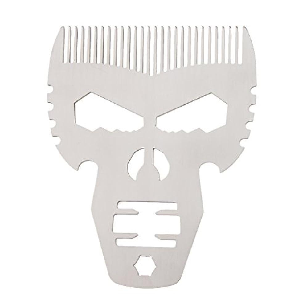 ページニッケルハンカチビアードコーム 男性 口髭ブラシ
