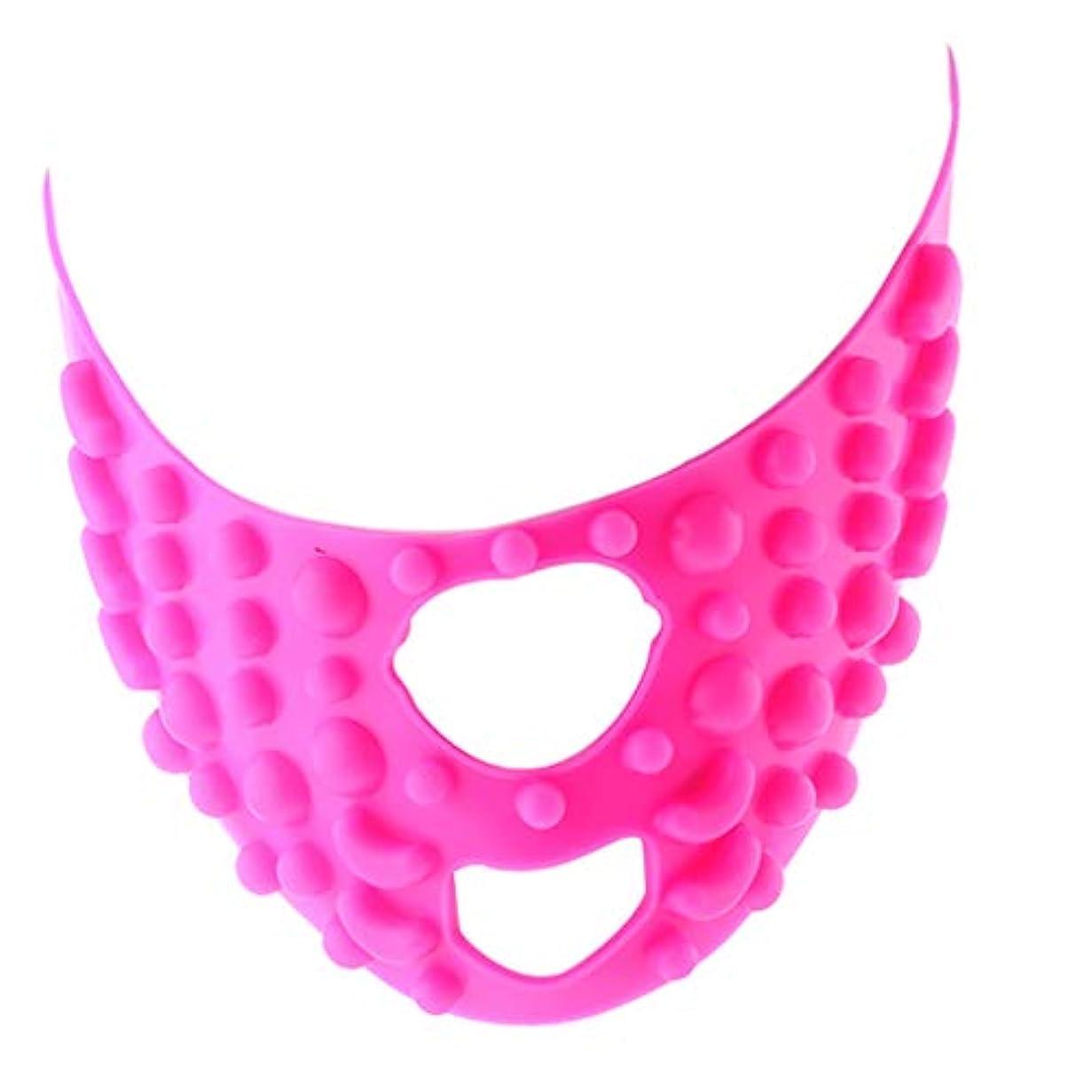 印象的なマラソンホームレスフェイス マスク ベルト リフトスリムマスク シリコン 小顔矯正 美顔 顔痩せ ユニセックス