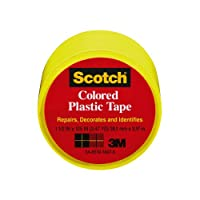 Scotch 191YL-6 Colored Plastic Tape, 1.5 x 125-Inch, Yellow by Scotch
