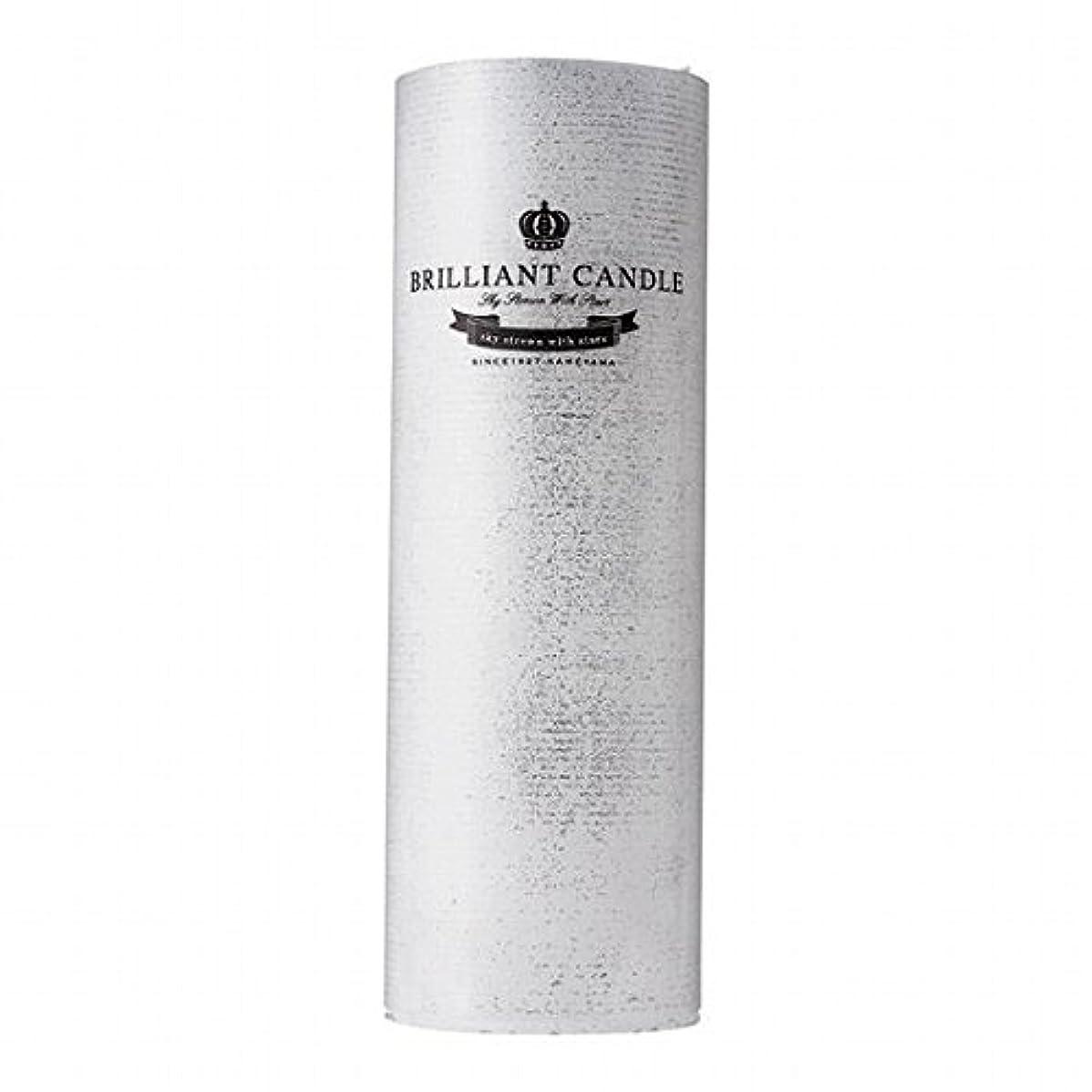 誘うスズメバチ気体のカメヤマキャンドル(kameyama candle) ブリリアントピラー2×6 「 パール 」