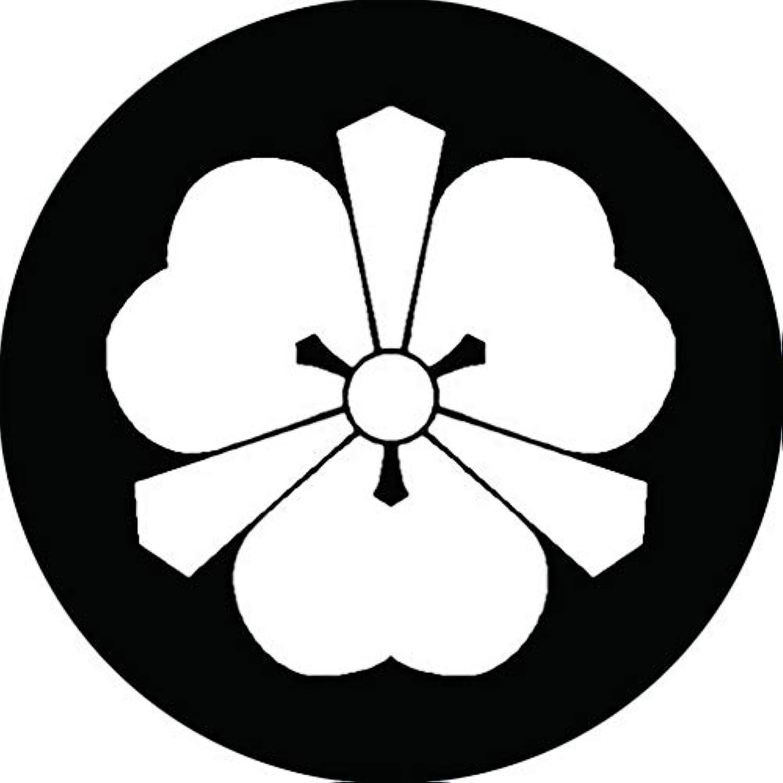 家紋シール 姫路剣片喰紋 布タイプ 直径40mm 6枚セット NS4-2662