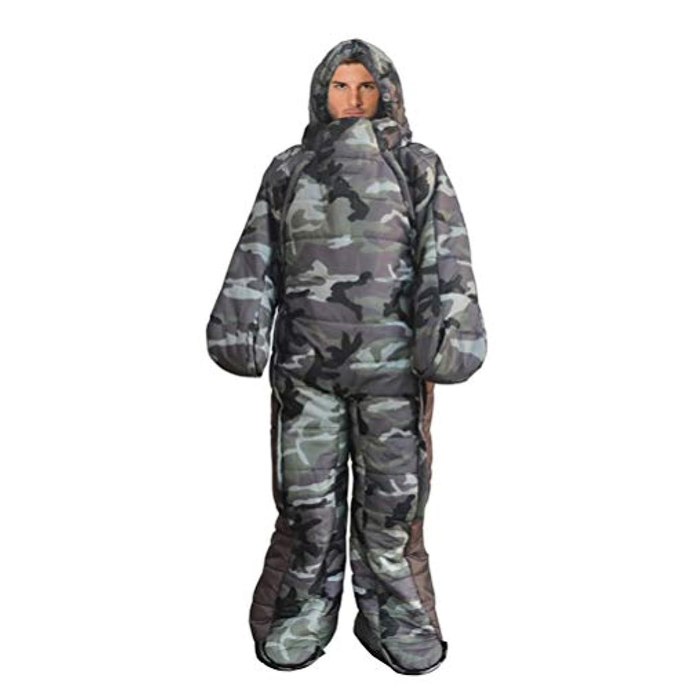 意義流出降伏大人のキャンプ用ウェアラブル寝袋用ジャケット、長袖、暖かい防水防風寝袋用キャンプ、ハイキング、アウトドア、圧縮袋付き