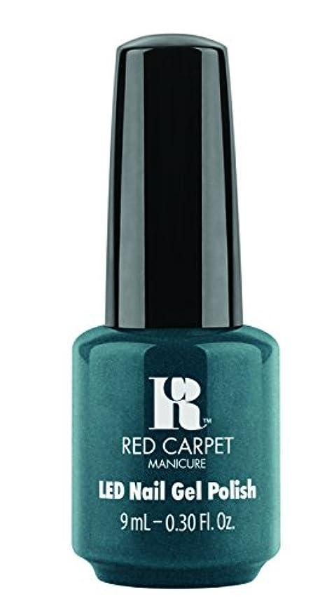 奨励起きてテーブルを設定するRed Carpet Manicure - LED Nail Gel Polish - High Society - 0.3oz/9ml