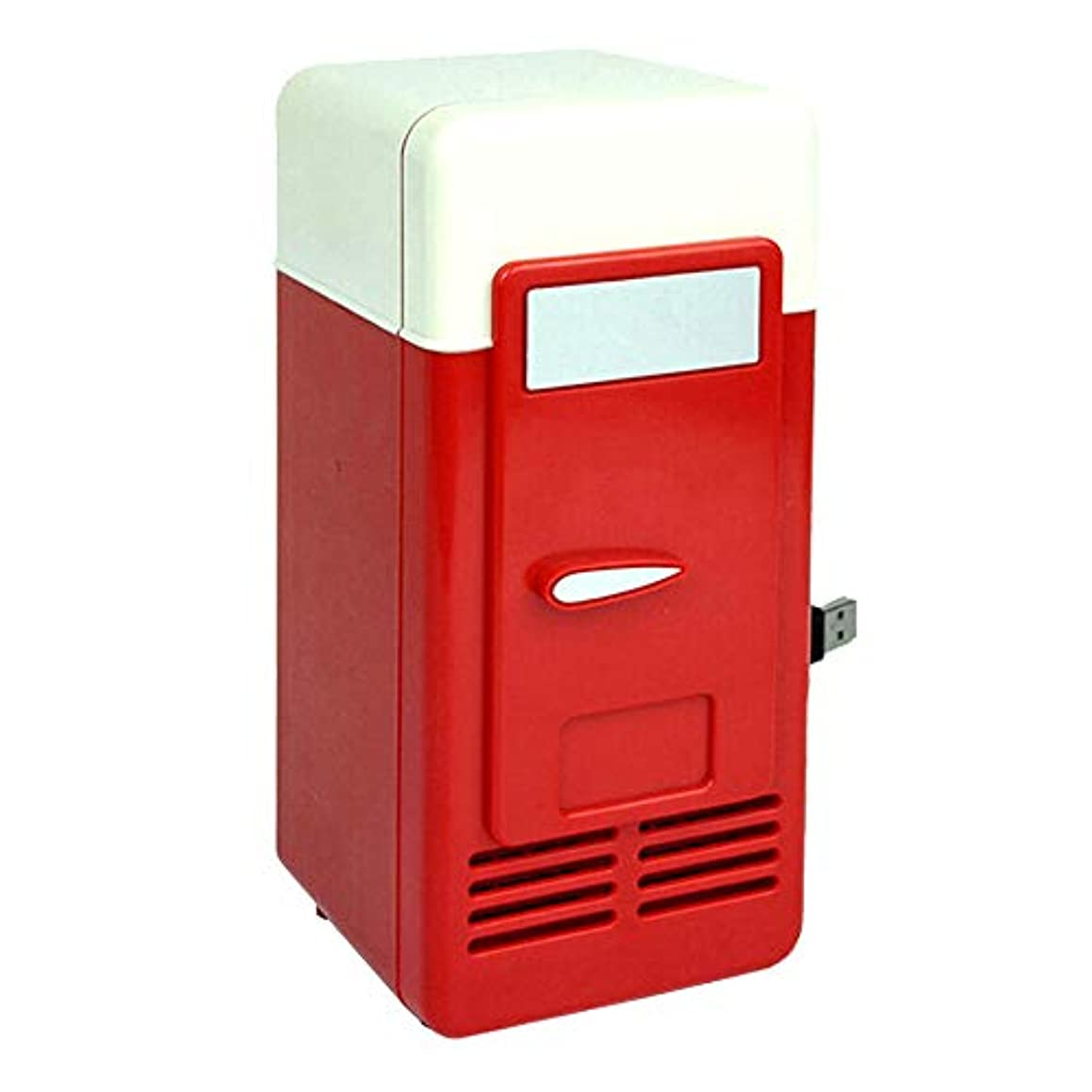 ひもブラスト温かいRETYLY USBミニ冷蔵庫コールドドロップドッピング冷凍庫USBミニ冷蔵庫小型ポータブルソーダミニ冷蔵庫 カー用レッド