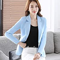 XuBa New Fashion Autumn Spring Long Sleeve Women Suits Slim Fit Outwear Purple Red Light Blue with Single Button Ma209