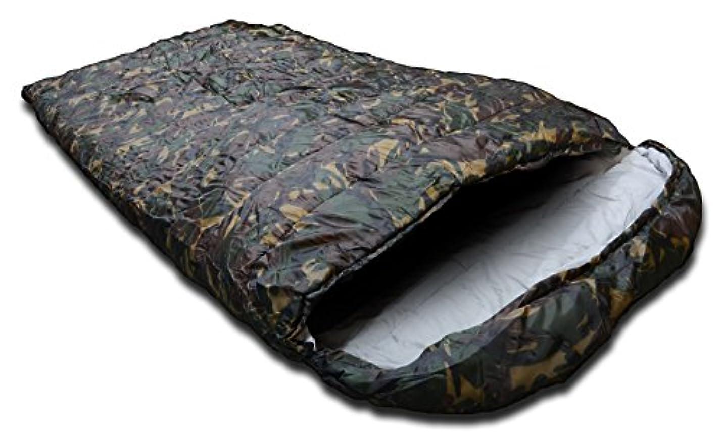 SEIKOH 寝袋 シュラフ 封筒型 洗える寝袋 耐寒温度-12℃ 迷彩 カモフラ 収納袋付き