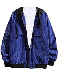 gawaga メンズファッションレタープリントボンバージャケットルーズパーカーボンバージャケットコート