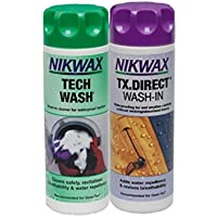 Nikwax Tech Wash & TxダイレクトWash inツインパック300 mls by Nikwax