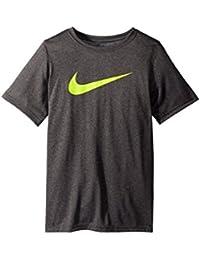 (ナイキ) NIKE キッズTシャツ Dry Short Sleeve Training T-Shirt (Little Kids/Big Kids) Charcoal Heather MD (10-12 Big Kids...