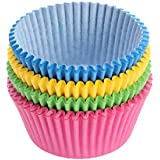 Toyvian 300pcs Coloful Cupcake Wrapper Baking Cups Paper Cupcake Liners Paper Cake Cup for Birthday Wedding Party Supplies (Mixed Color)