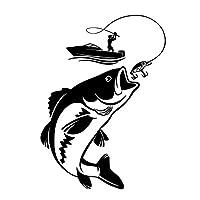 BETTER YOU (ベター ュー) カーシール 車用デカール 釣り オートバイ デカール 耐久性 人気 車飾り物 車ステッカー (ブラック)