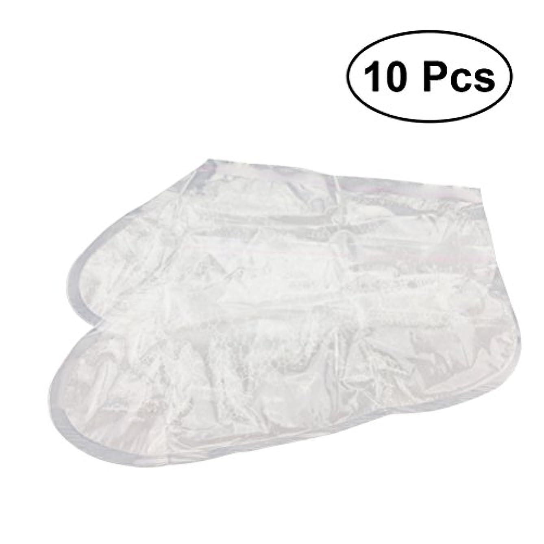 針寝室を掃除するスクリューROSENICE フットマスク ピーリング足 フットピーリングマスク フットカルスとデッドスキンリムーバー ラベンダー香り フットピーラー 10袋