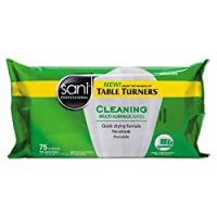 Multi - Surface Cleaning Wipes 7x 9ホワイトCitrus Scent 75/パック20by Sani Professional
