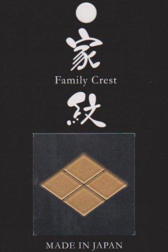 蒔絵調立体家紋シールDX 武田菱(066) 家紋ステッカー