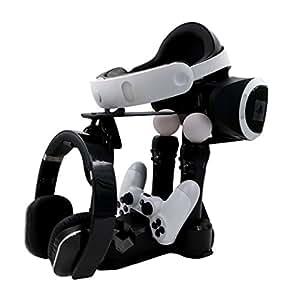 【IVSO】PSVRショーケースPS4 VR充電 ディスプレイスタンド 充電スタンド 四充電ステーション 2台充電 PlayStation 4/4s/4pro用(ブラック)