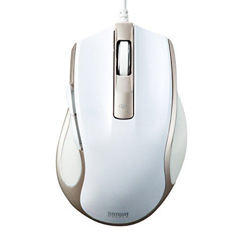 サンワサプライ 有線ブルーLEDマウス ホワイト MA-BL11W