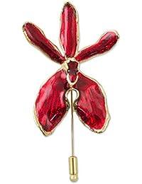 Novica 22 KゴールドメッキナチュラルOrchidブローチ、チェンマイ' Orchid '