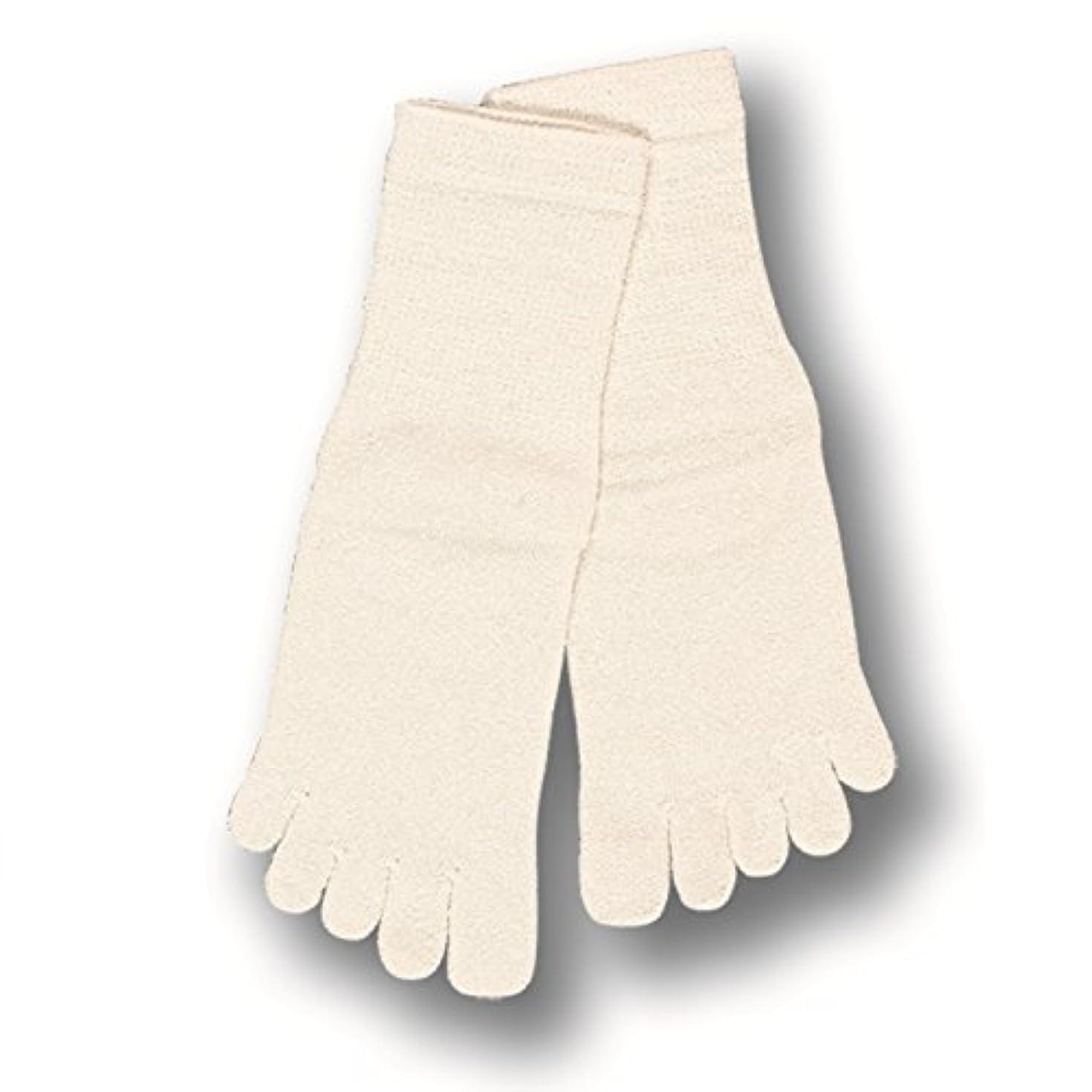 折り目アクセスできない靴下コクーンフィット シルク 5本指ソックス S オフホワイト