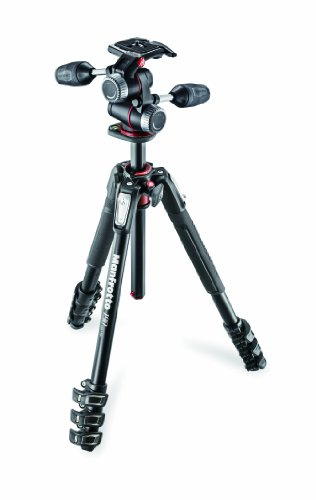 Manfrotto プロ三脚 190シリーズ アルミ 4段 + RC2付3Way雲台キット MK190XPRO4-3W