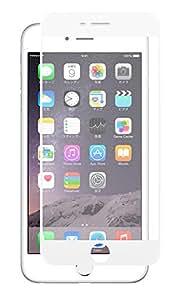 クロスフォレスト iPhone7 Plus用ガラスフィルム 3Dフルカバー(全面)タイプ 日本製ガラス使用 ラウンドエッジ 「CF-GHIP7シリーズ」 液晶保護フィルム( iPhone7 Plus,アンチグレア,3D,ホワイト)